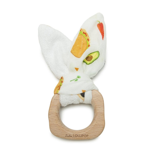 Loulou Lollipop Bunny Teether Ring - Tacos