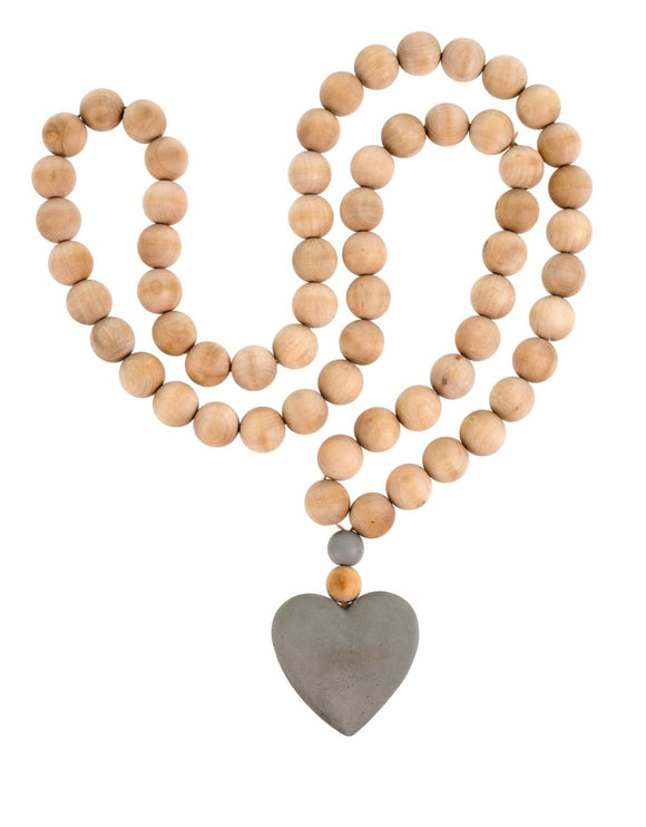 Town & Country - Concrete Heart Prayer Beads