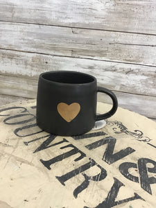 Town & Country - Gold Heart Mug
