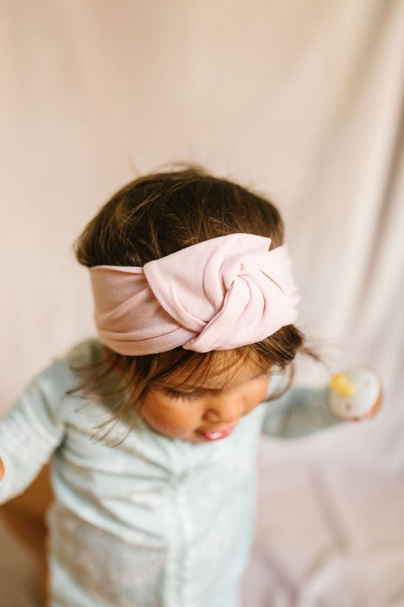 Loulou Lollipop Knotted Headband - Sepia Rose