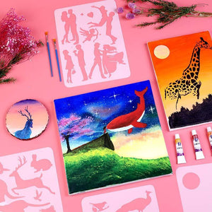 Fast Draw Stencil Art Templates( 12 or 24 Sheets/Set )