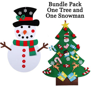 Felt Christmas Snowman or Tree Set