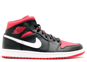 Jordan 1 Mid Black Gym Red White (2014) Size 10.5 US