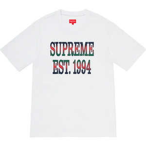 Supreme Cotton Mesh Gradient Logo S/S Top White Size XL