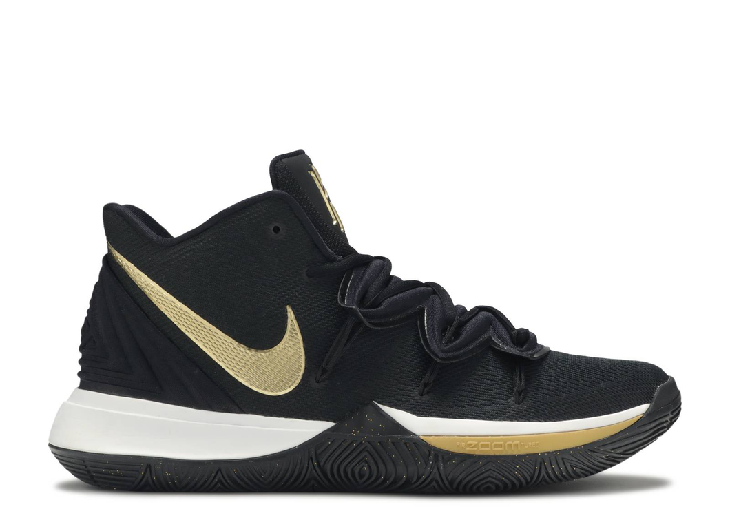 Nike Kyrie 5 Black Metallic Gold Size 9.5 US