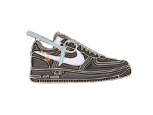 Load image into Gallery viewer, Nike AF1 x OFF-WHITE Sneaker Pin (Black)