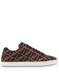 Fendi sneakers micro perforated canvas with all over FF print Size 42