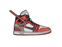 "Load image into Gallery viewer, AIr Jordan 1 x OFF-WHITE ""CHICAGO"" Sneaker Pin"