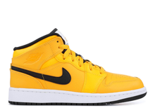Load image into Gallery viewer, Jordan 1 Mid University Gold Black (GS) Size 6.5Y
