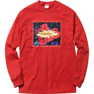 Supreme Bloom L/S Tee Red Size M