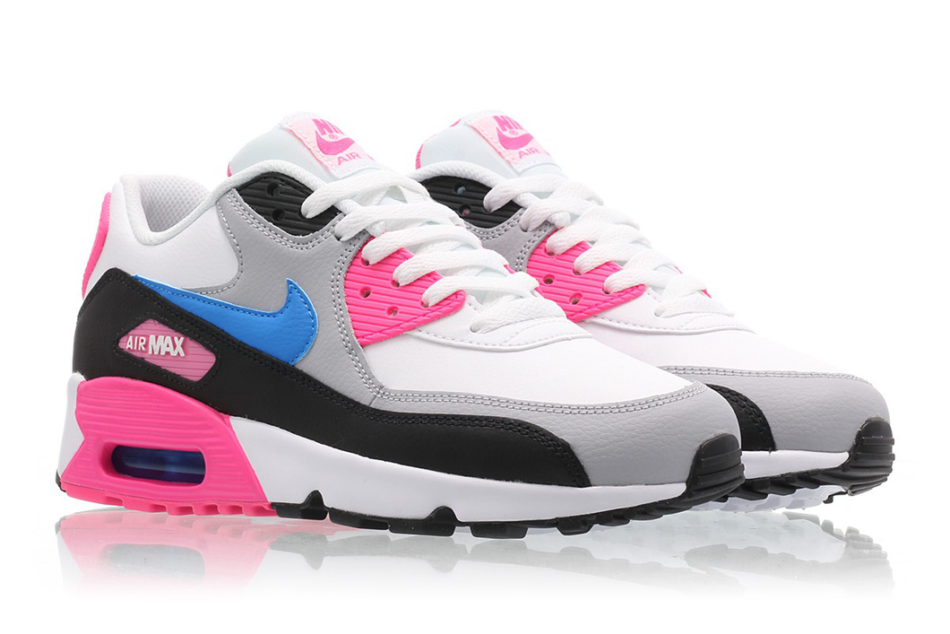 Nike AIR MAX 90 Leather Pink (GS) 5.5Y