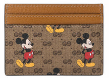 Load image into Gallery viewer, Gucci x Disney Card Case Mini GG Supreme Mickey Mouse Beige