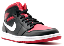 Load image into Gallery viewer, Jordan 1 Mid Black Gym Red White (2014) Size 10.5 US