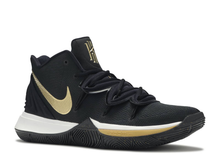 Load image into Gallery viewer, Nike Kyrie 5 Black Metallic Gold Size 9.5 US