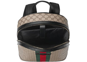 Gucci Backpack Zip Top GG Supreme Web Detail