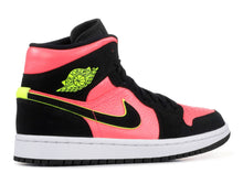 Load image into Gallery viewer, Jordan 1 Mid Black Hot Punch (W) Size 12W