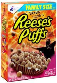 Travis Scott's Reeses's Puffs Cereals Family Size