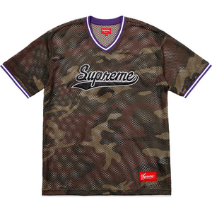 Supreme Mesh Baseball Top Navy Size XL