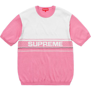 Supreme Chest Logo S/S Knit Top Pink Size XL