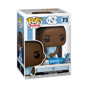 Pop! Basketball Michael Jordan UNC Home Jersey Walmart Exclusive Figure #73