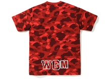 Load image into Gallery viewer, BAPE Color Camo Shark Tee Red Size M