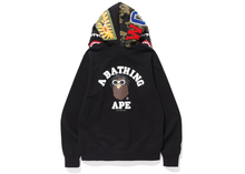 Load image into Gallery viewer, BAPE Wiz Khalifa Shark Full Zip Hoodie Black Size XL