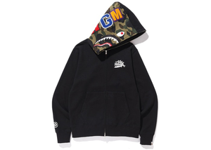 BAPE Wiz Khalifa Shark Full Zip Hoodie Black Size XL
