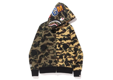Load image into Gallery viewer, BAPE 1st Camo Half Shark Full Zip Hoodie Green Camo Size L