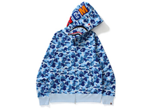 Load image into Gallery viewer, BAPE ABC Shark Full Zip Hoodie Blue Size XL
