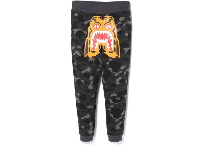 BAPE Color Camo Tiger Slim Sweat Pants Black Size L