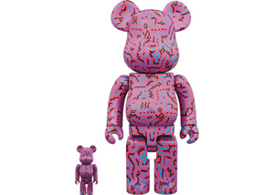 Bearbrick Keith Haring 2 100% & 400% Set Purple