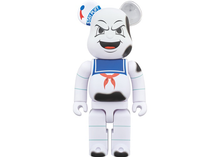 Load image into Gallery viewer, Bearbrick Stay Puft Marshmallow Man Anger Face 400% White