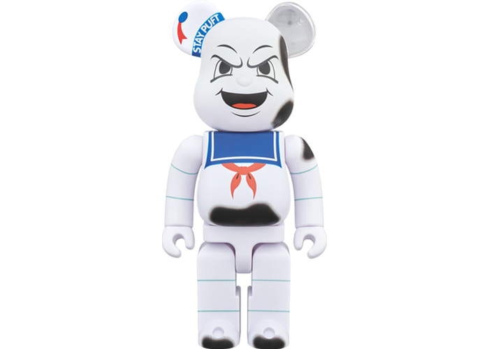 Bearbrick Stay Puft Marshmallow Man Anger Face 400% White