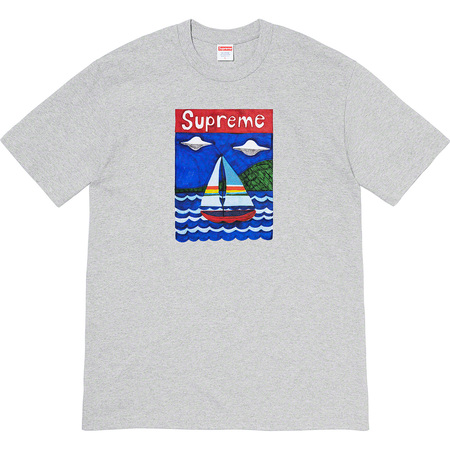Supreme Sailboat Tee Heather Grey Size L / XL