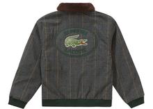 Load image into Gallery viewer, Supreme LACOSTE Wool Bomber Jacket Plaid Size L