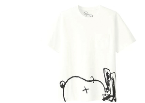 KAWS x Uniqlo x Peanuts Snoopy Face Pocket Tee Tee White Size L