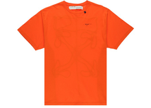 Load image into Gallery viewer, OFF-WHITE Oversized Abstract Arrows Embroidered T-Shirt Orange/Black Size M / L / XL