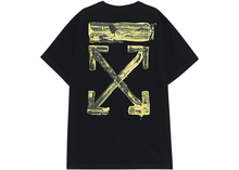 Load image into Gallery viewer, OFF-WHITE Oversized Acrylic Arrows S/S T-Shirt Black/Yellow Size L