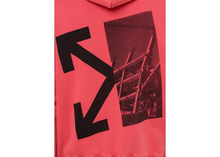 Load image into Gallery viewer, OFF-WHITE Splitted Arrows Hoodie Red/Black Size S / L