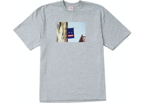 Supreme Banner Tee Heather Grey Size L / XL