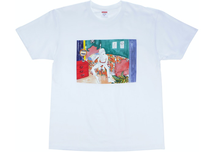 Supreme Bedroom Tee Heather White Size L / XL