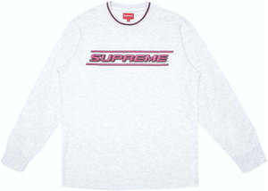 Supreme Bevel L/S Top Ash Grey Size XL