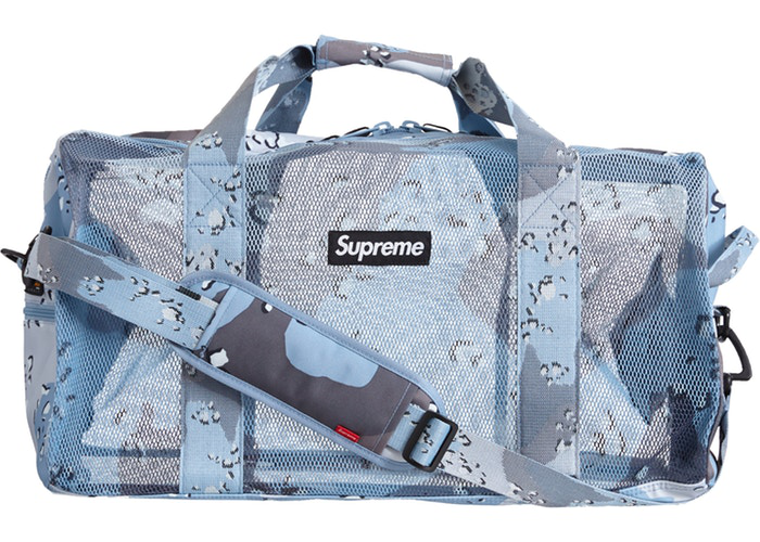Supreme Big Duffle Bag Blue Chocolate Chip Camo