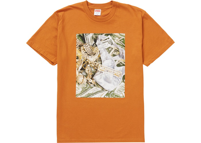 Supreme Bling Tee Burnt Orange Size S