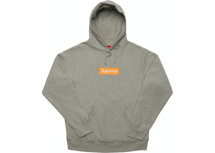 Supreme Box Logo Hooded Sweatshirt (FW17) Heather Grey Size M