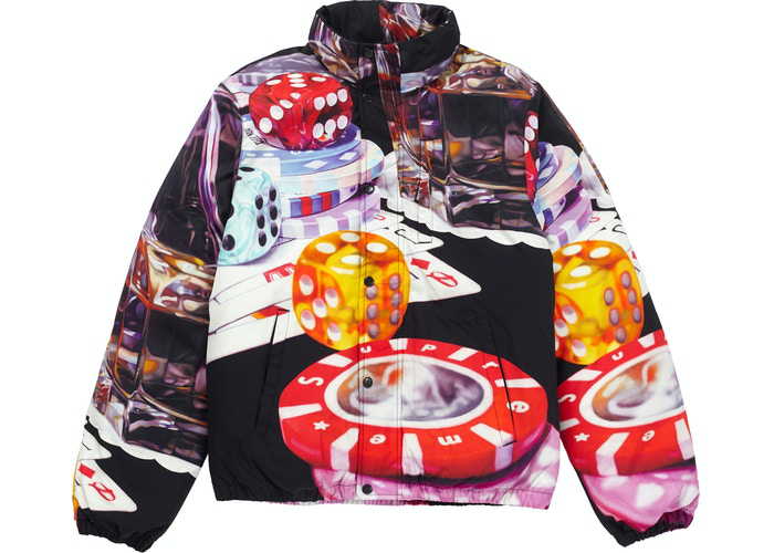 Supreme Casino Down Jacket Black Size L