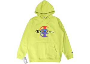 Supreme Champion Stacked C Hooded Sweatshirt Bright Green Size M