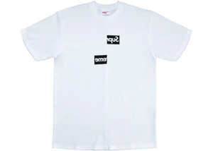 Supreme Comme des Garcons SHIRT Split Box Logo Tee White Size XL