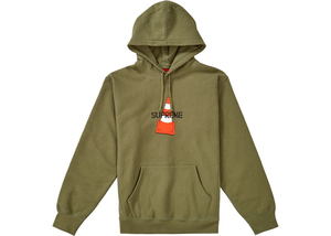 Supreme Cone Hooded Sweatshirt Light Olive Size XL