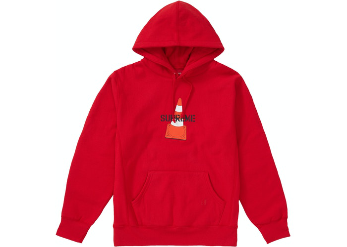 Supreme Cone Hooded Sweatshirt  Red Size M /  L